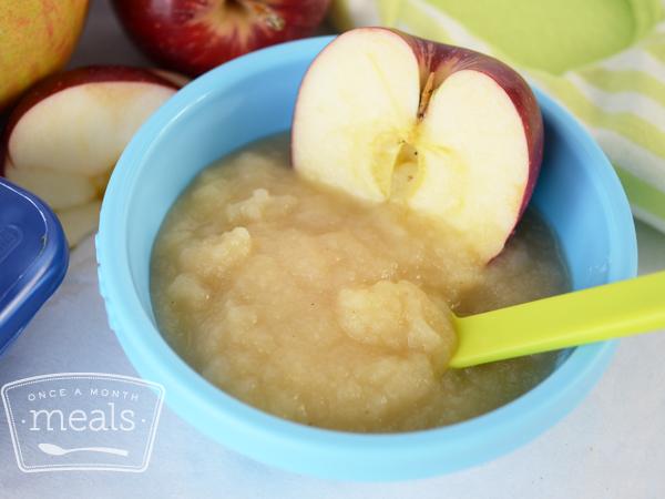 Fall Freezer Meals - Homemade Applesauce Baby Food