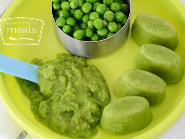 Pea Puree Baby Food