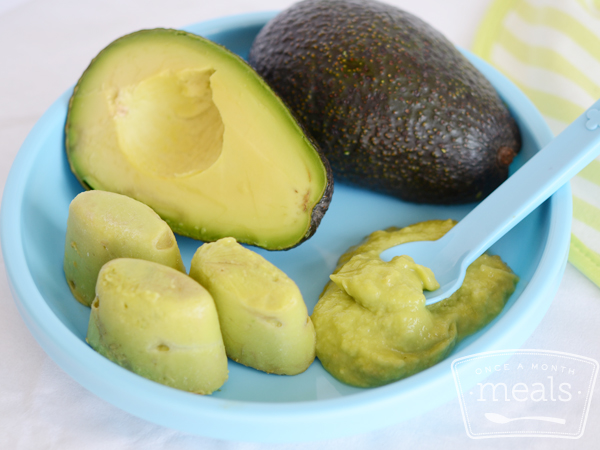 Avocado Freezing Baby Food