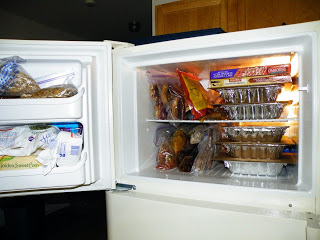 Refrigerator freezer after cooking day