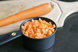 sliced diced carrots equivalents