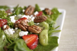 Strawberry Kiwi Salad with Poppy Seed Dressing
