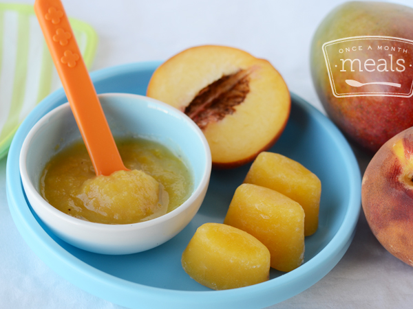 Mango Peach Puree 6 Months Once A Month Meals