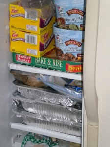 OAMC Freezer Meals in Side-by-Side Fridge