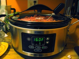 Slow cooker on OAMC cooking day