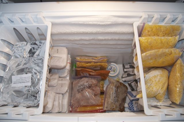 Deep freezer full of meals