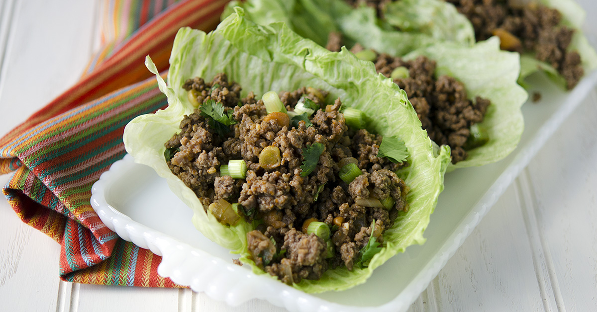Spicy Beef Lettuce Wraps | Once A Month Meals