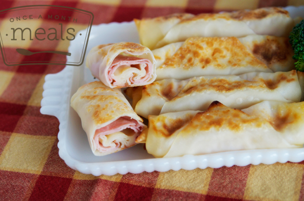 101 Spring Freezer Meals - Ham and Cheese Egg Roll