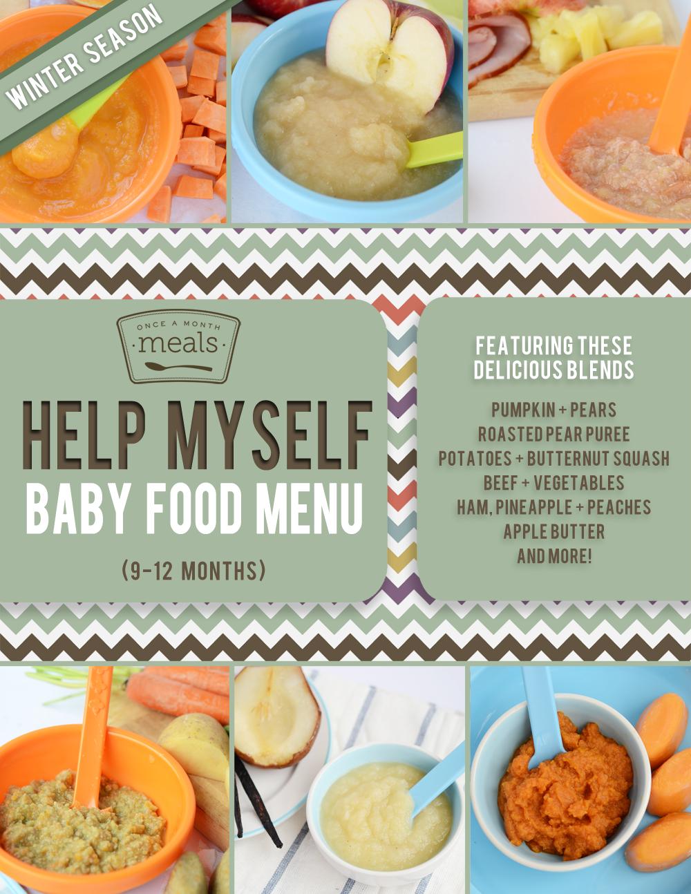 Help Myself Winter Baby Food Menu - 9 to 12 months