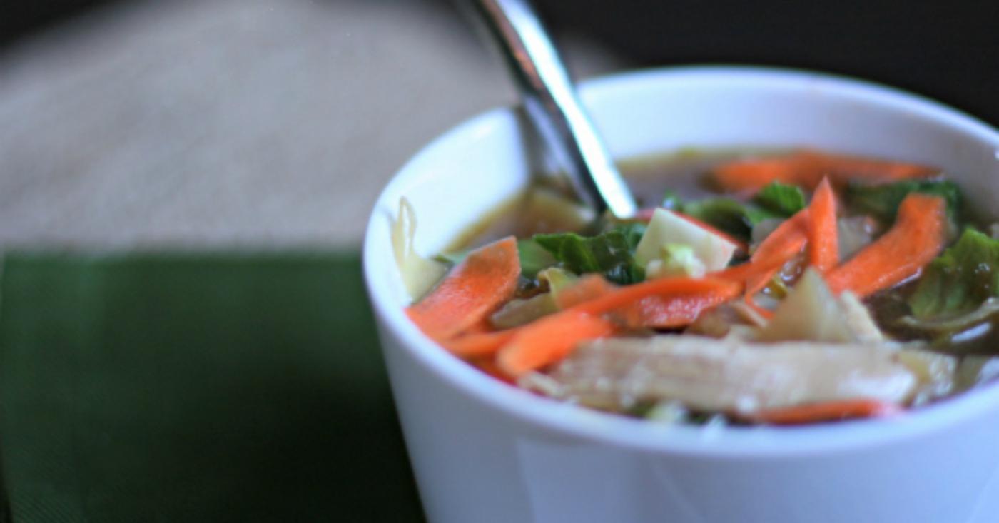 Asian chicken garlic soup-4829