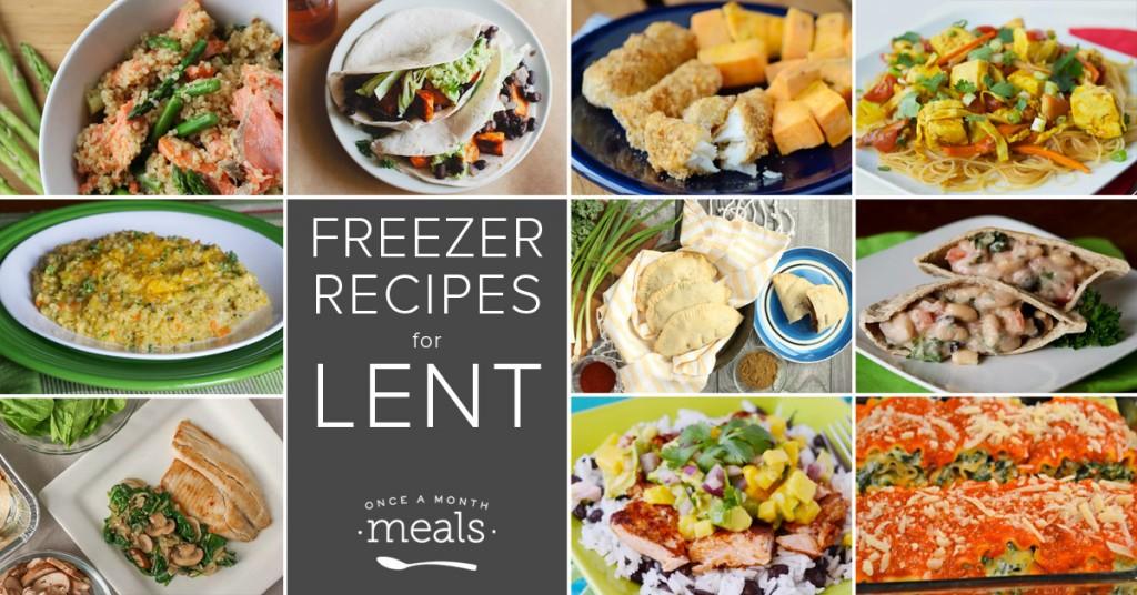 Freezer Recipes for Lent