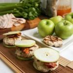 Paleo Chicken Apple Bacon Sliders - Pin