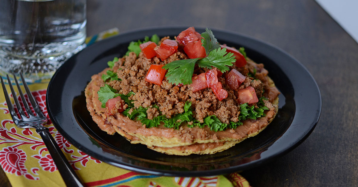 ... Double Decker Chipotle Bean and Turkey Tostadas | Once A Month Meals