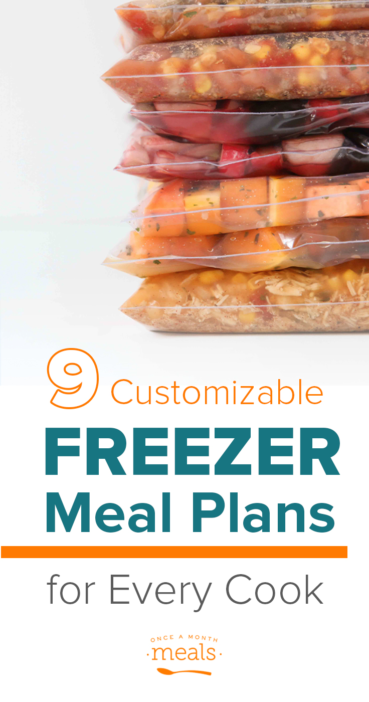 Once a Month Meals gives you everything you need to freezer cook, including 9 customizable freezer meal plans! Read about them here or make your own.