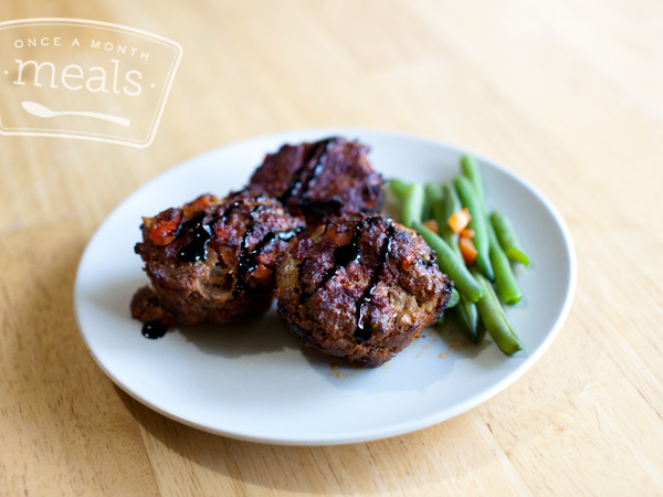Gift Freezer Meals - Paleo Balsamic Vegetable Packed Mini Meatloaves