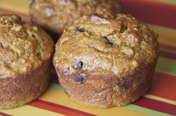 Fall Freezer Meals - Chocolate Chip Pumpkin Quinoa Muffins