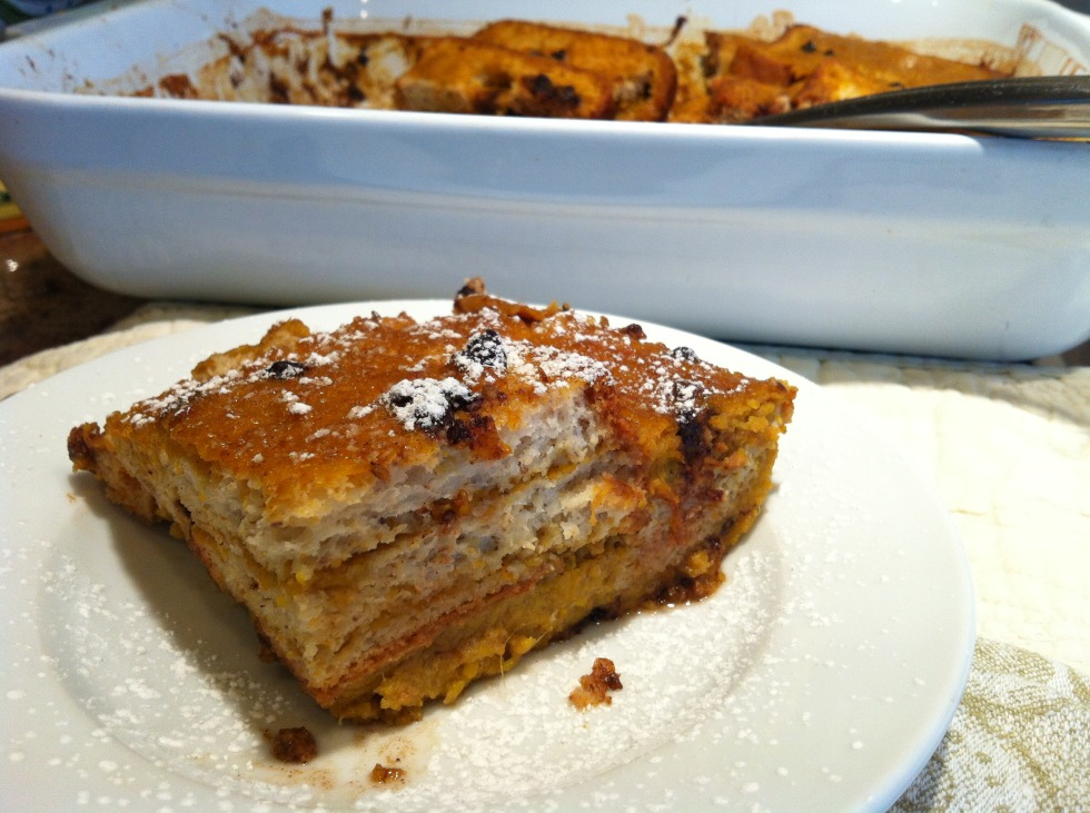 Gluten Free Dairy Free Baked Pumpkin French Toast