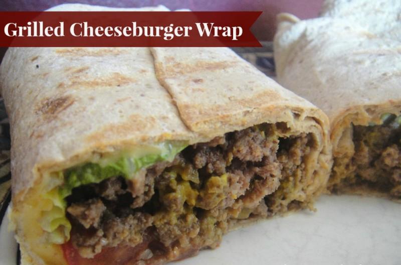 Original: Grilled Cheeseburger Wrap (diet, weight watchers)