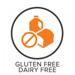 Gluten Free Dairy Free Menu Badge with Icon
