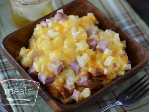 Kid Friendly Freezer Meals - Cheesy Potatoes and Ham
