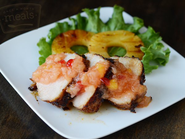 Spicy Pork Loin with Pineapple Upside Down Jam