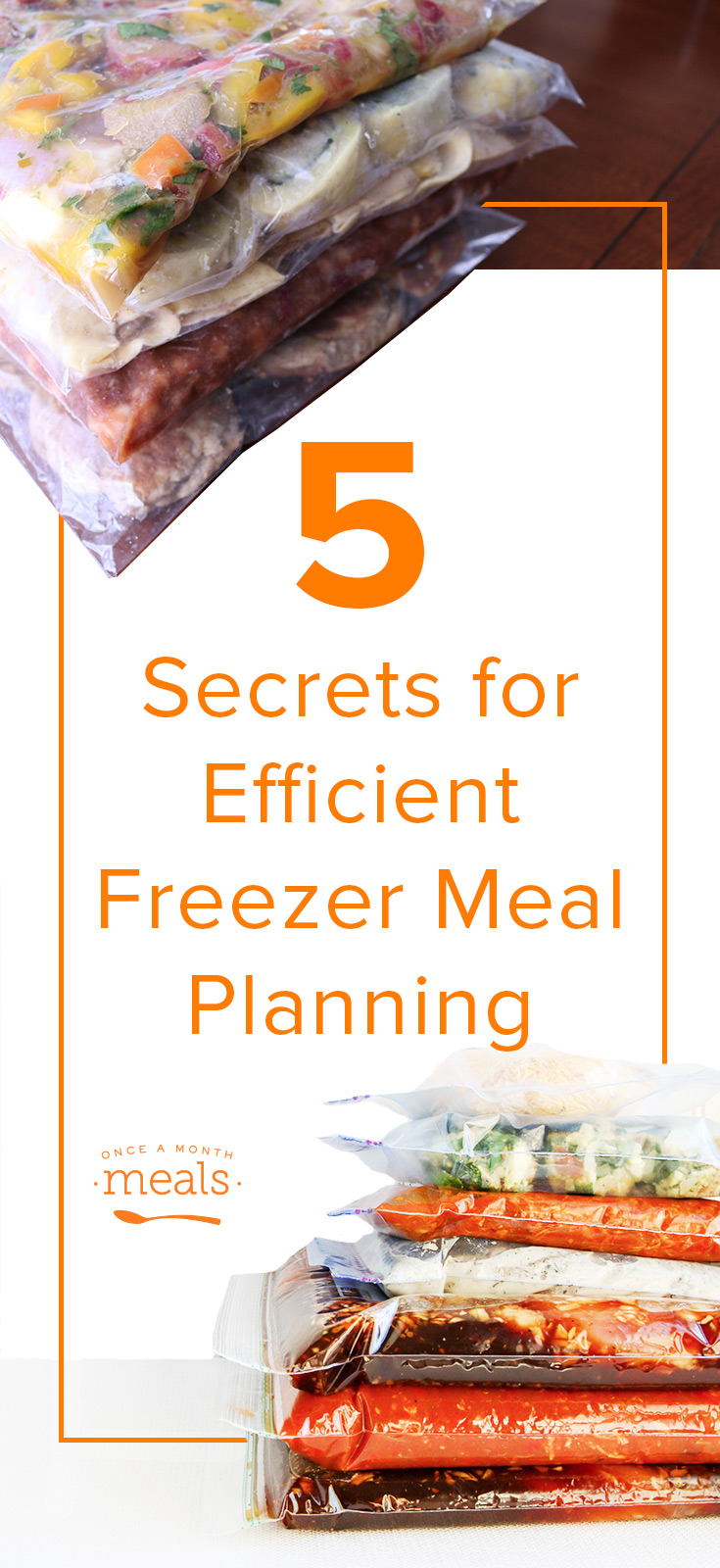 Want to stock the freezer with tasty meals and maximum efficiency? We are sharing 5 secrets to efficient freezer meal planning that you don't want to miss!