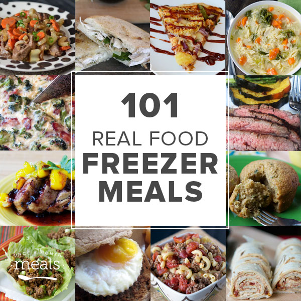 101 Real Food Freezer Recipes, Square