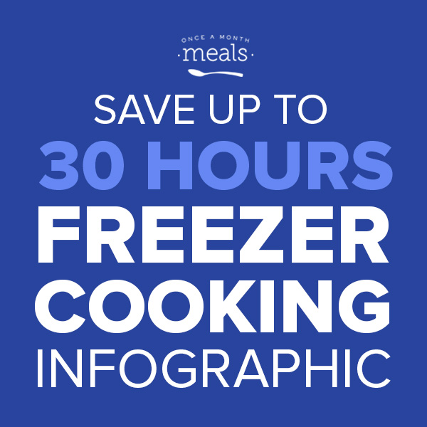 Save up to 30 hours Freezer Cooking (Square)