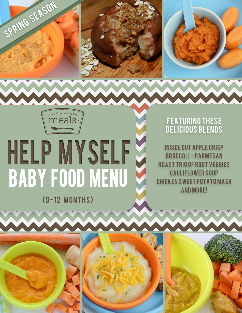 Help Myself Baby Food Menu - 9 to 12 months