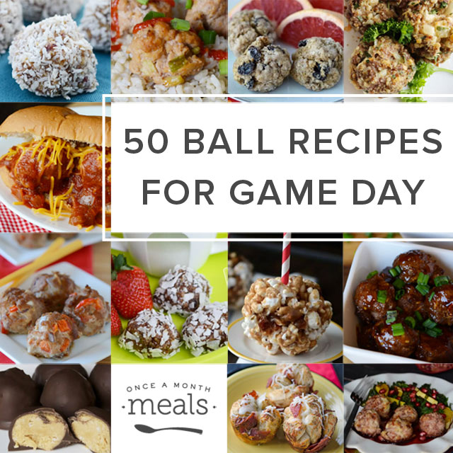 50 Ball Recipes for Game Day