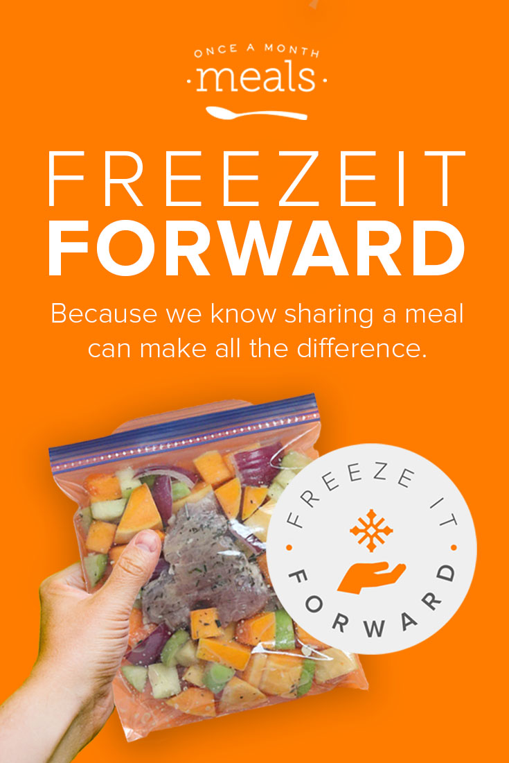 Share the love by sharing a meal! Share your story, or nominate a friend, to receive a FREE Once A Month Meals Membership to help make meals! #freezeitforward #onceamonthmeals