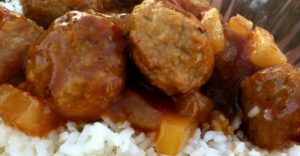 Freezer Meal Week: Sweet and Sour Meatballs (cooked from frozen!)