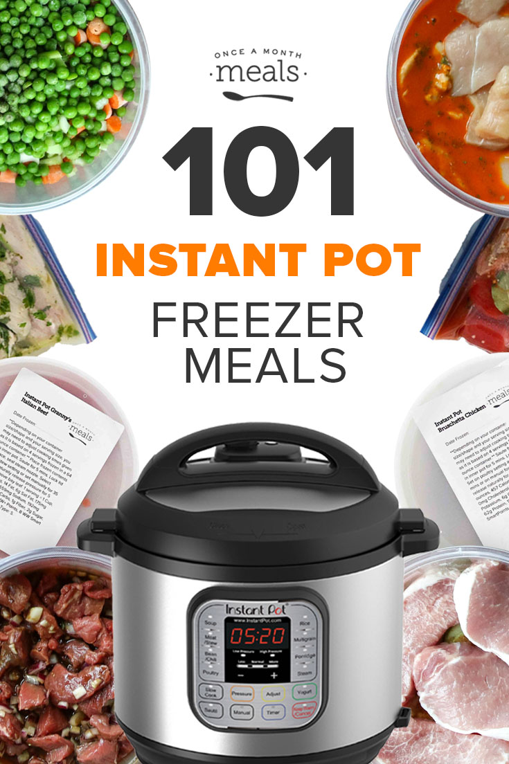 101 Instant Pot Freezer Meals! Cook dinner in your Instant Pot straight from frozen using a meal plan from our favorite pressure cooking, freezer meal favorites!