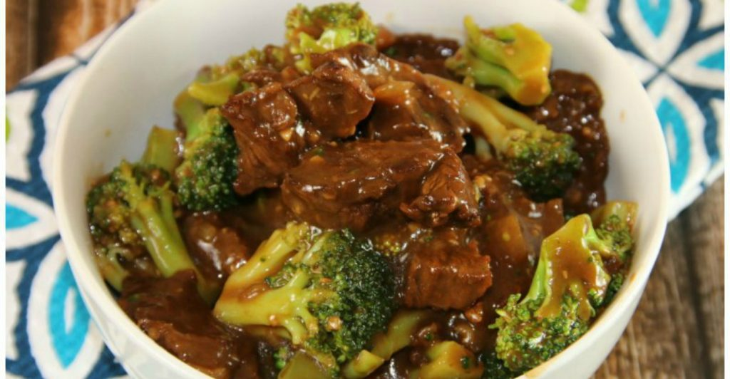 Instant Pot Beef and Broccoli via I Save A to Z