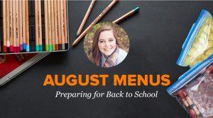 2018 August Menus