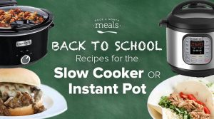 Slow Cooker & Instant Pot Meal Prepping for Back to School! (Partial Menu Prep)