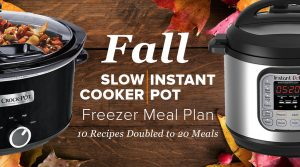 2-n-1: Fall Instant Pot & Slow Cooker Meal Plan – 20 meals in 1 hour!