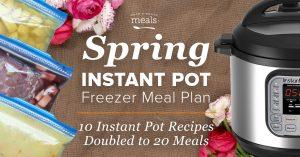 2-n-1: Spring Instant Pot & Slow Cooker Meal Plan – Make 20 Freezer Meals in 1 hour