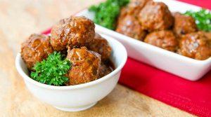 Instant Pot Paleo Apple Glazed Turkey Meatballs