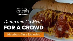 Fall Dump and Go Meals for a Crowd:  Making Menus & Meals for the Masses