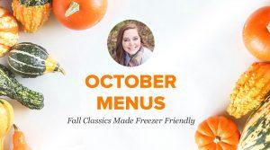 2018 October Menus