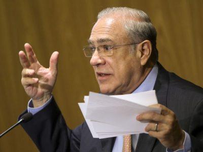 O presidente da OCDE, Angel Gurria