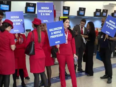 Avianca: funcionários protestam em aeroporto