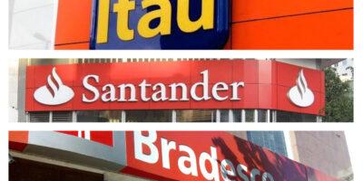 Bradesco (BBDC4), Itaú (ITUB4) e Santander (SANB11): bancos são destaques da B3