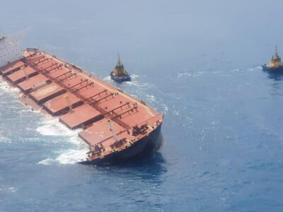 Marinha informa que situação do navio encalhado da Vale (VALE3) é estável