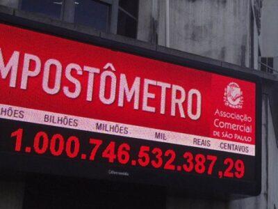 Impostômetro atinge a marca de R$ 1 trilhão neste sábado