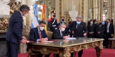 Após reunião, Fernández e Sánchez destacam importância de acordo UE-Mercosul