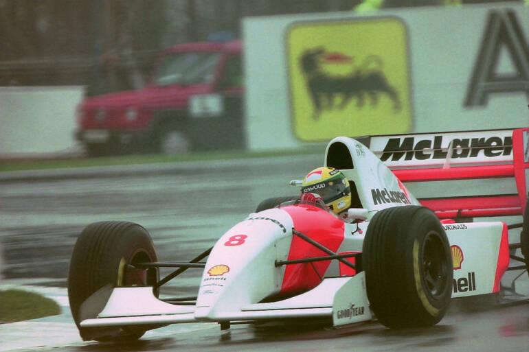 Ayrton Senna v evropské Grand Prix 1993