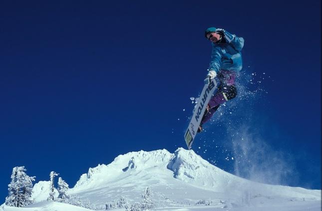 Bezpečnost na sjezdovce - Snowboardista