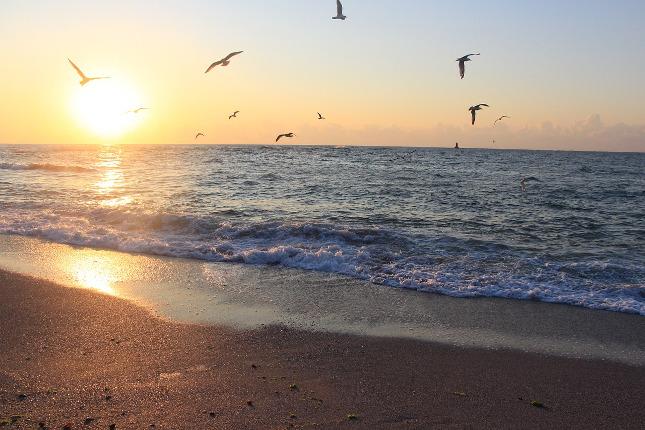 Západ slunce u Černého moře